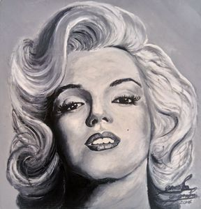 Marilyn Monroe portrait - Juan Guzmán Messages