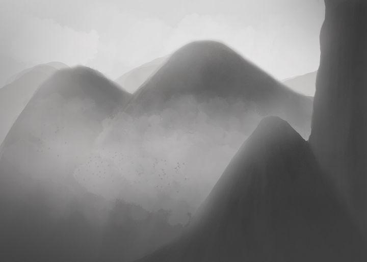 B&W Mountains - FFleuryArt