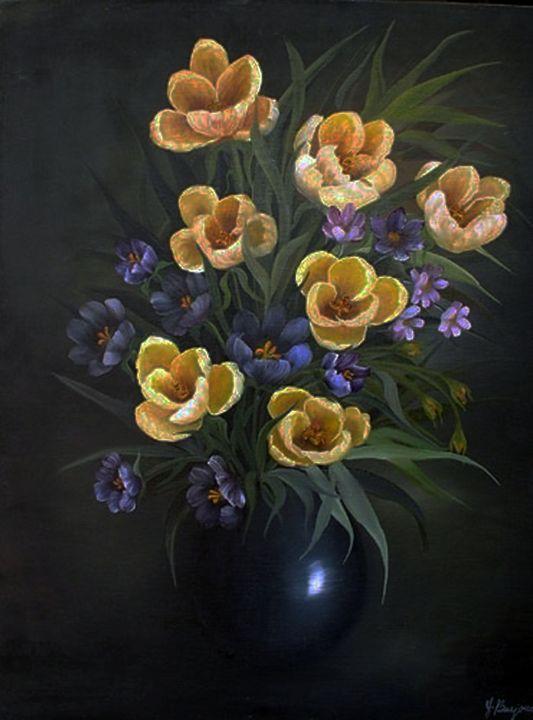 Crocuses - Yolanda Barjoud Originals