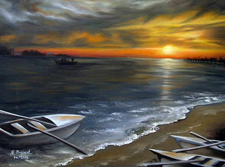 Sunset at the Shore - Yolanda Barjoud Originals