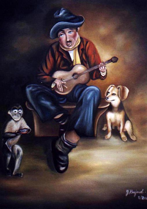 Old Man Singing - Yolanda Barjoud Originals