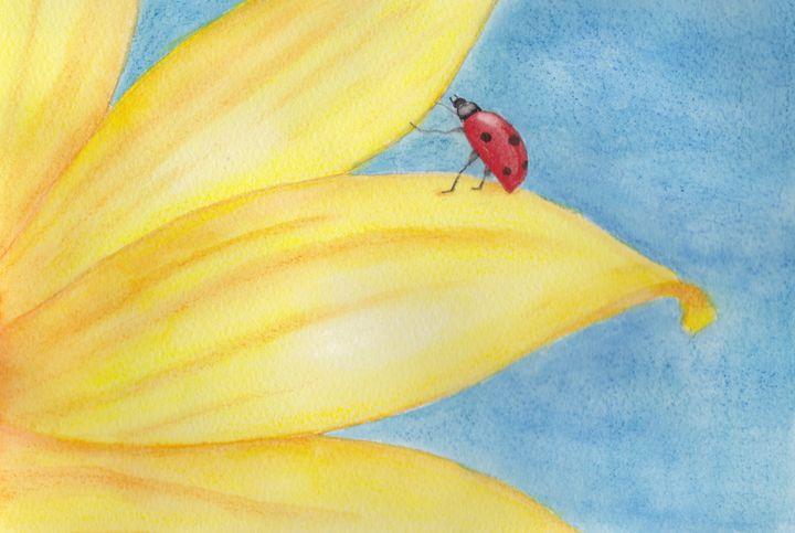 Ladybug on Sunflower - LozsArt