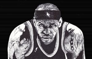 LeBron James Ink Drawing - LozsArt