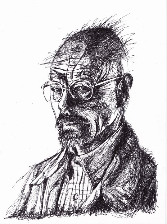 Walter White Breaking Bad Ink - LozsArt