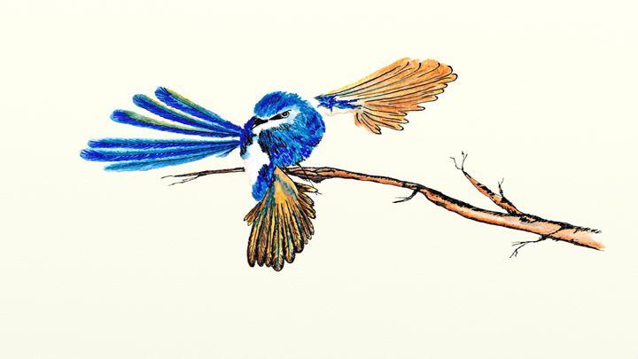 Ink Dancing Fairy Wren - LozsArt
