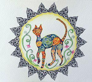 Hippy Cat Mandala - LozsArt