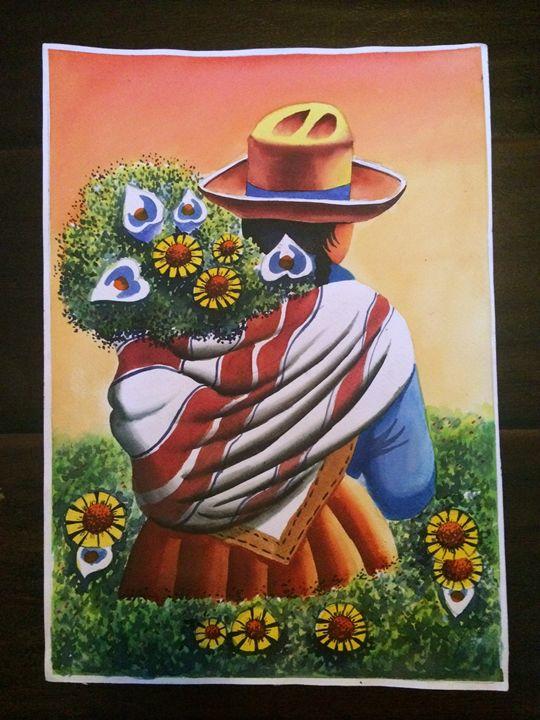 Peruvian Water color Original - Misti Shop