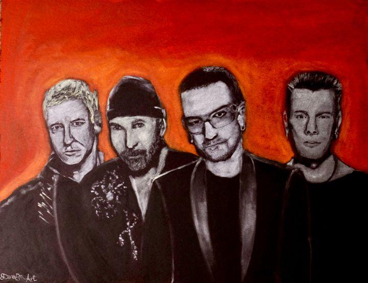 U2 Forever Fire - Dana E.M. Art