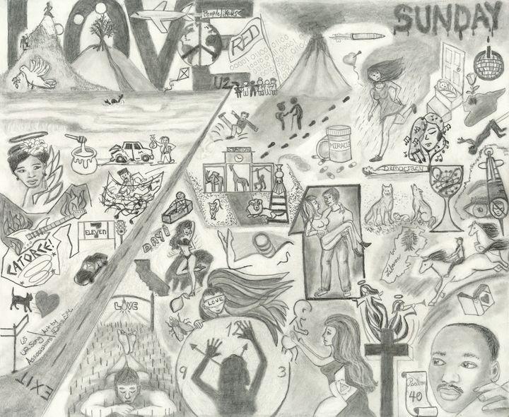 65 U2 Song Associations - Dana E.M. Art