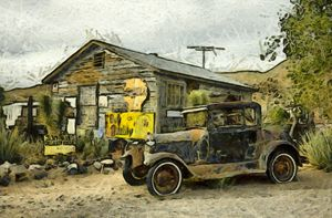 Model A Ford Hackberry General Store - FASGallery/ArtPal