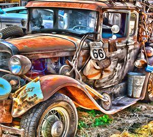 Grapes of Wrath Era Funky Truck - FASGallery/ArtPal
