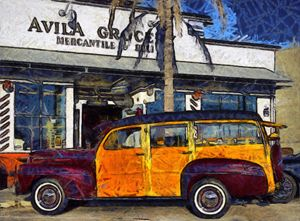 Avila Beach 1948 Ford Woodie - FASGallery/ArtPal