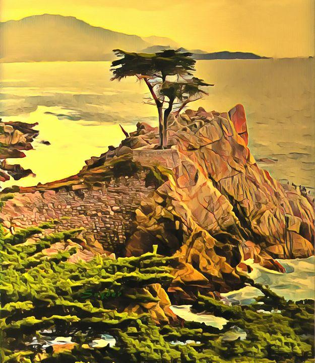 Lone Cypress  Monterey - FASGallery/ArtPal