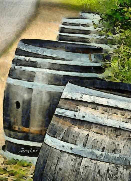 Wine Barrels Foxen Winery Abstract - FASGallery/ArtPal
