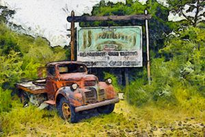 Harmony California Highway Sign - FASGallery/ArtPal
