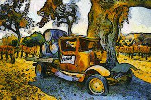 Blackjack Winery Truck Santa Ynez Ca - FASGallery/ArtPal