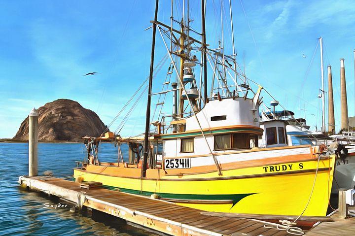 Trudy S Fishing Boat Morro Bay Calif - FASGallery/ArtPal