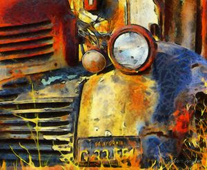 Headlight On A Retired Relic - FASGallery/ArtPal