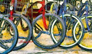 Bikes Abstract Small - FASGallery/ArtPal