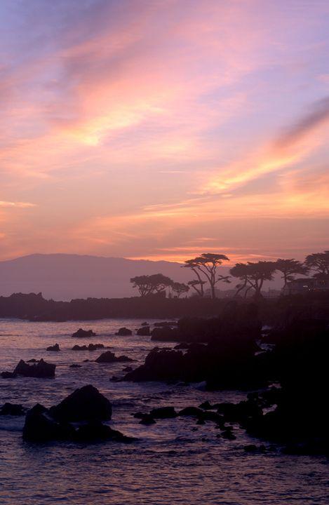 Purple Sunrise of Pacific Grove - FASGallery/ArtPal