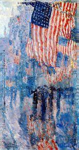 The Avenue In The Rain - FASGallery/ArtPal
