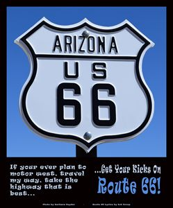 Arizona Highways Route 66 Poster - FASGallery/ArtPal