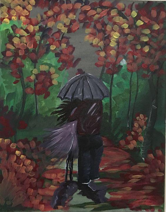 A walk in the rain - Heart of Aayushi