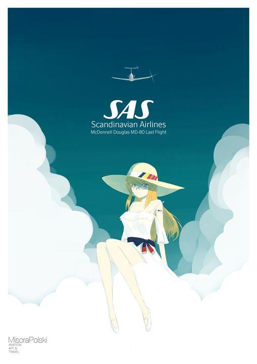 SAS MD-80 Last Flight Commemoration - MisoraP's Aviation & Illustration