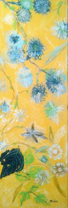 Stamped flower - eel art / Erin Lanier