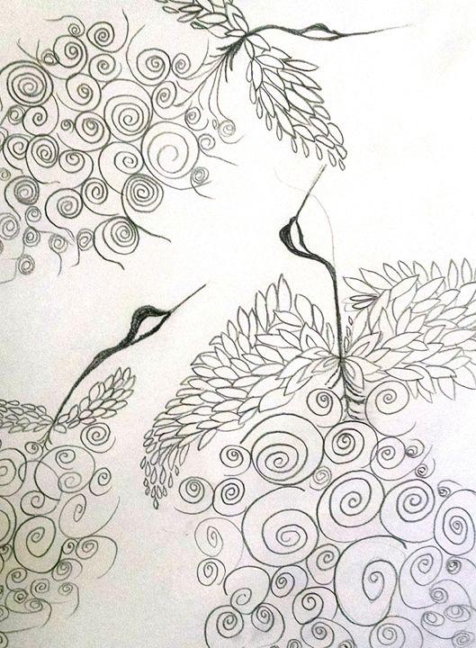 Loopy bird series #1 - eel art / Erin Lanier