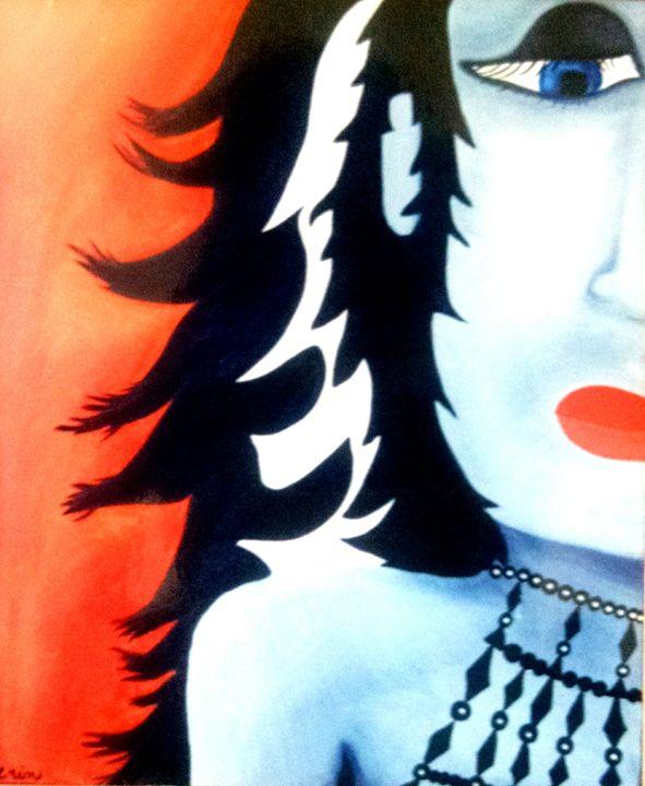 Girl power beware - eel art / Erin Lanier