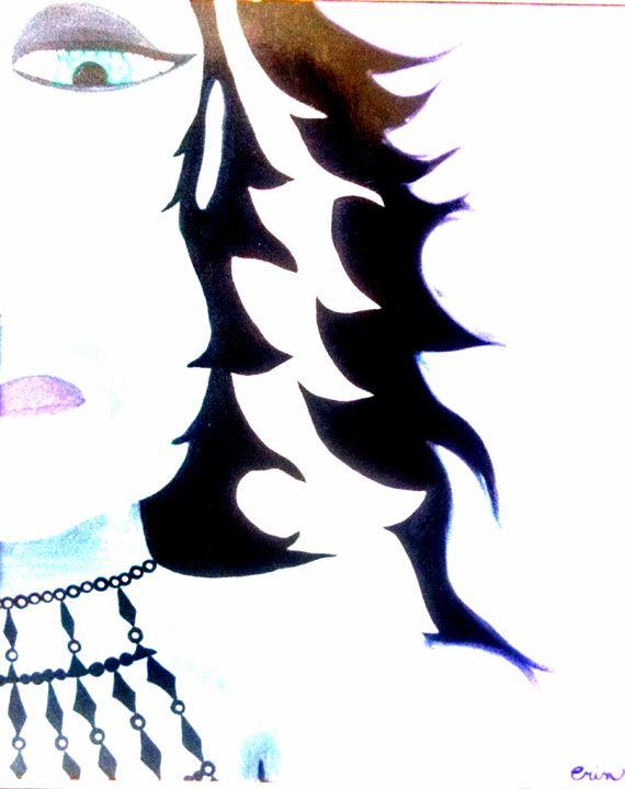 Girl power beware # 2 in series - eel art / Erin Lanier