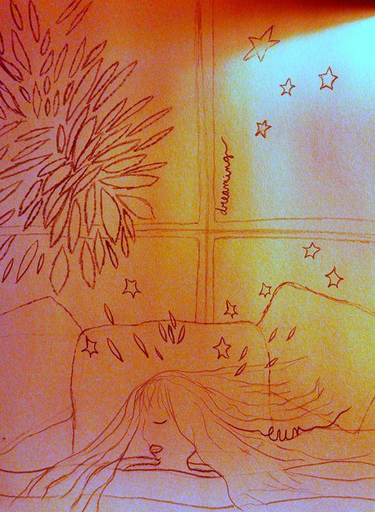 keep on dreaming - eel art / Erin Lanier