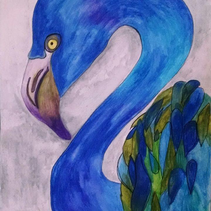 Not Feeling Pink Today - eel art / Erin Lanier