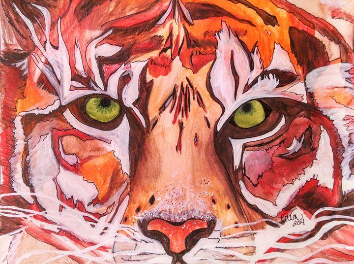 Tiger Eyes - eel art / Erin Lanier