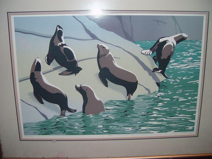 DONNA CATOTTI SEA LIONS SERIGRAPH 19 - Been To The Sea