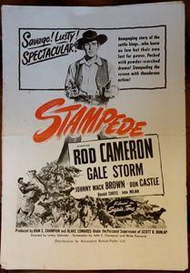 'Stampede' (1949) Film Poster