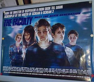 The Faculty Movie Poster - Redbusart