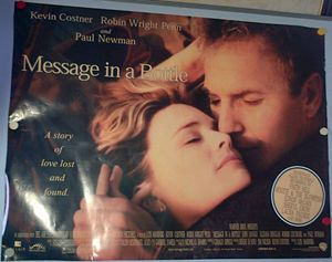 Message in a Bottle Movie Poster - Redbusart