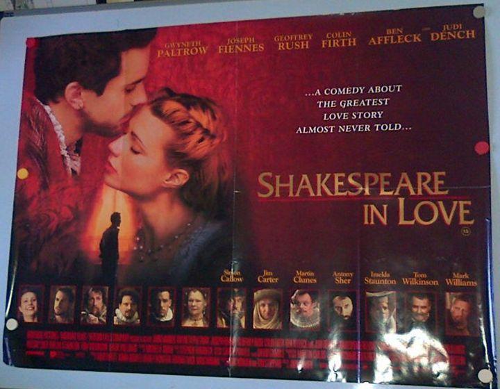 Shakespeare in Love Movie Poster - Redbusart
