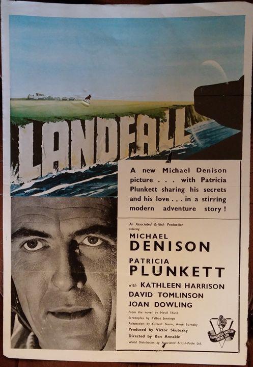 Landfall (1949) British Film Poster - Redbusart