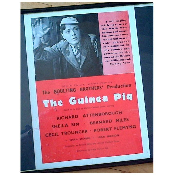 The Guinea Pig 1948 Film Poster - Redbusart