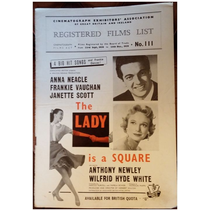 The Lady is a Square (1959) Poster - Redbusart