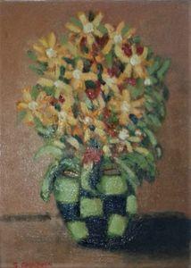 """""""Flowers in Green Vase"""""""