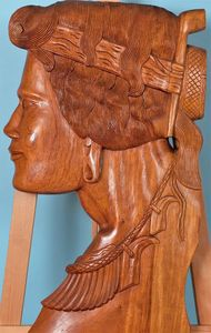 Carved Head Wall Plaque