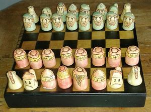 Chess Set in Stoneware