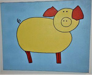 Children's Nursery Style of Pig