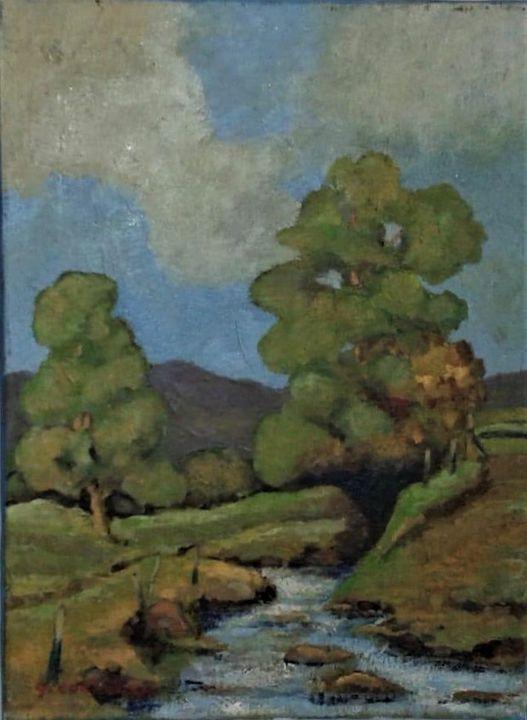 River Scene - Redbusart