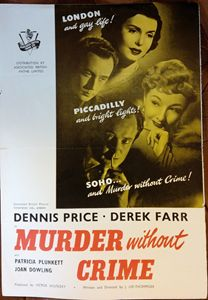 'Murder Without Crime'(1951) Poster