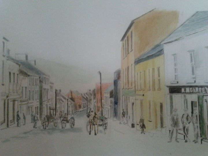Old Letterkenny Co Donegal - Sean''s Irish Art